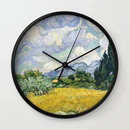 Wheatfield Wth Cypresses Van Gogh July 1989 Wall Clock