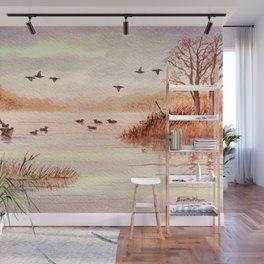 Setting Duck Decoys - Sudden Flyover II Wall Mural