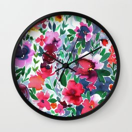 Evie Floral Wall Clock