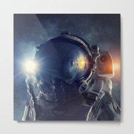 Galaxy astronaut 3 Metal Print