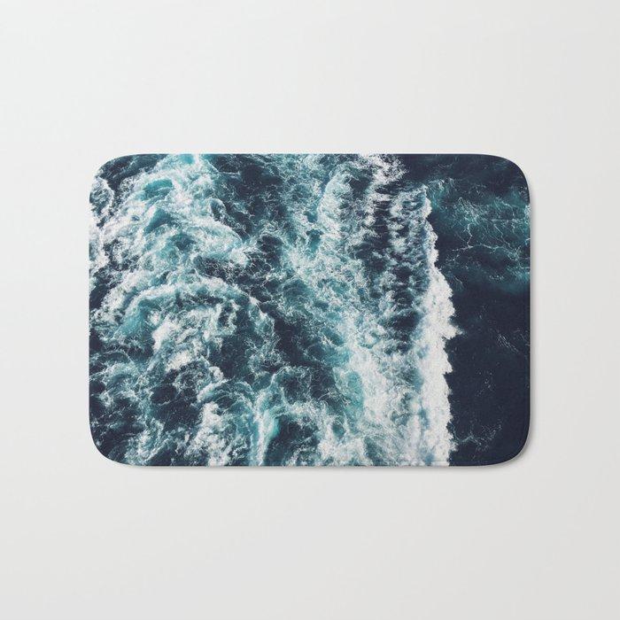 DARK BLUE OCEAN Bath Mat