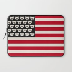Pugtriotic American Flag Laptop Sleeve