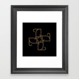 A Mocha Script Pattern Unit Framed Art Print