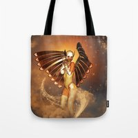 angel Tote Bags featuring Angel by nicky2342
