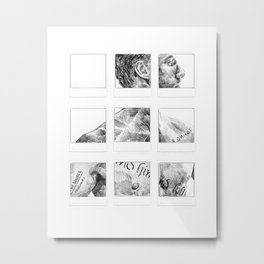 Memento Polaroids - Movie Inspired Art Metal Print