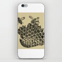 Vintage Bee & Honeycomb iPhone Skin