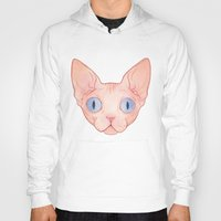 sphynx Hoodies featuring Sphynx by Delia Evin