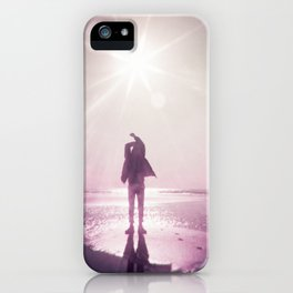 Sunlight Silhouette in Violet -  Holga photograph taken on the Oregon Coast iPhone Case