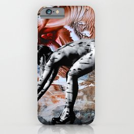 Blind date nude collage iPhone Case