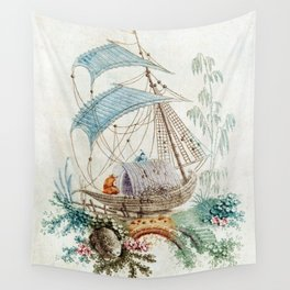 Chinoiserie Embroidery Wall Tapestry