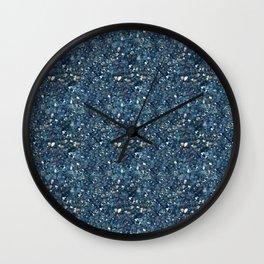 Aqua Blue Aurora Borealis Close-Up Crystal Wall Clock