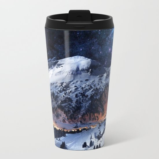 Mountain CALM IN space view Metal Travel Mug
