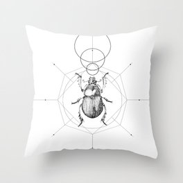 Dots, Lines & Beetle Throw Pillow
