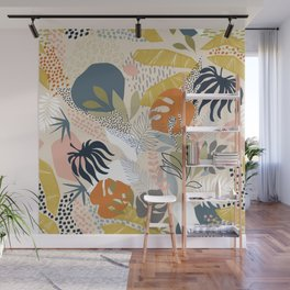 Tropical Foliage Pattern 1 - Retro Boho Wall Mural