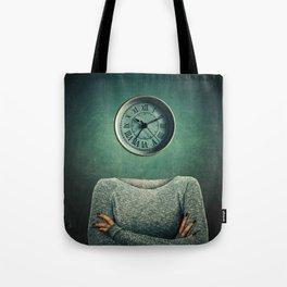 clock head Tote Bag