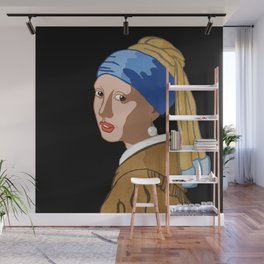 Girl with a Pearl earring - toonish Wall Mural