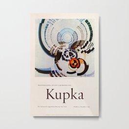 Frank Kupka Exhibition poster 1975 Metal Print