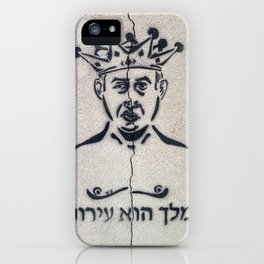 Tel Aviv Street Art / Bibi Netanyahu / The King is Naked iPhone Case