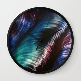 Northern Lights Shimmer Wall Clock