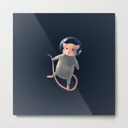 Mouse Astronaut Metal Print
