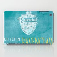 ravenclaw iPad Cases featuring Wise Old Ravenclaw by MilkP