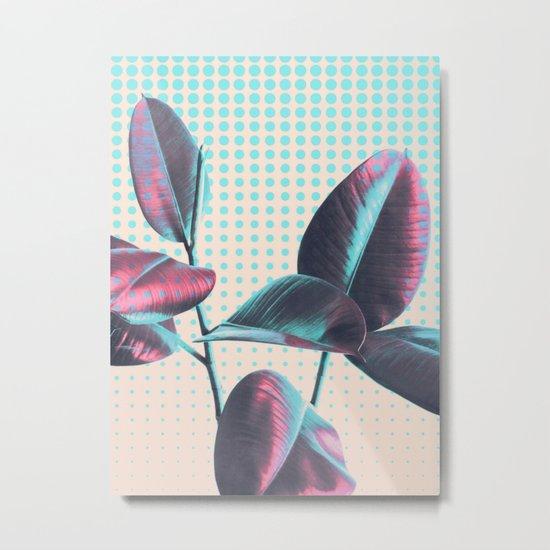 Polka Dots on Greenery Metal Print