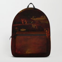"""Hieronymus Bosch (follower) """"Christ's Descent into Hell"""" Backpack"""