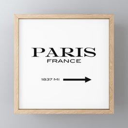 Paris - France Framed Mini Art Print