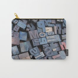 Print Letters Carry-All Pouch