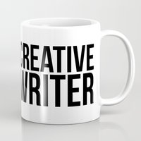 writer Mugs featuring CREATIVE WRITER by Creative Adventures