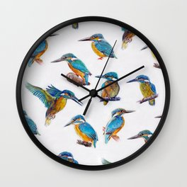 kingfishers. Wall Clock