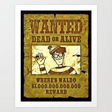 Where's Waldo Wanted Poster Art Print