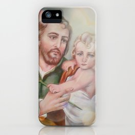 St. Joseph with Child Jesus iPhone Case
