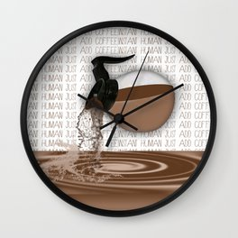 Pouring Coffee Wall Clock