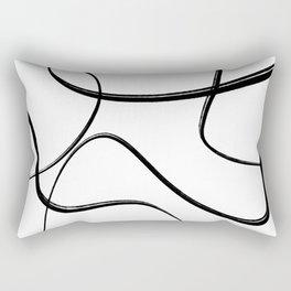 Minimalist Brush Art No. 7 Rectangular Pillow