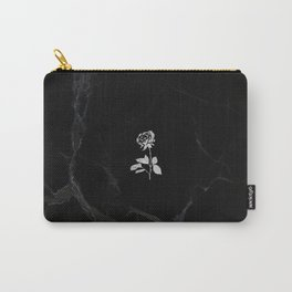 Forever Petal (Black Silver) Carry-All Pouch
