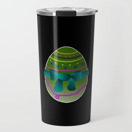 Egg green and blue Bow 03 Travel Mug