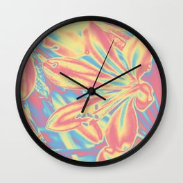 colorful blossoms Wall Clock