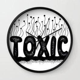 Toxic Cute Typography Design Wall Clock