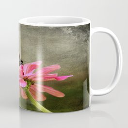 Monarch Butterfly and Pink Zinnia Coffee Mug