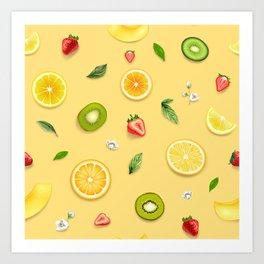 Mixed Fruit 10 Art Print