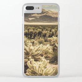 Super Bloom Cactus 7379 Clear iPhone Case