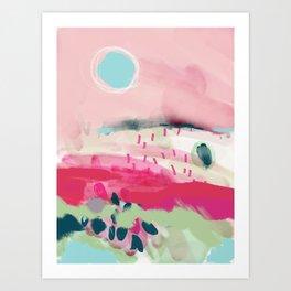 spring dream landscape Art Print