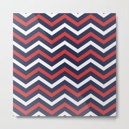 Chevron pattern nautical Metal Print