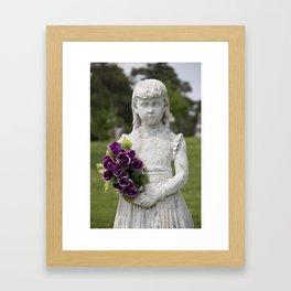 Girl Statue Closeup Framed Art Print