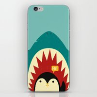 penguin iPhone & iPod Skins featuring Hi! by Jay Fleck