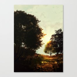 Almost Sundown Canvas Print