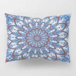 Seventeen Pointed Star In Red White and Blue Pillow Sham