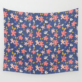 Dancing Florals Wall Tapestry