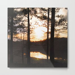 North Georgia Sunset (Lightened) Metal Print